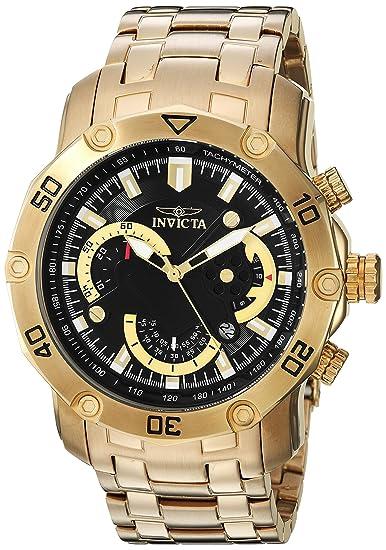 Invicta 22767 - Reloj de Pulsera Hombre, Acero Inoxidable, Color Oro: Amazon.es: Relojes