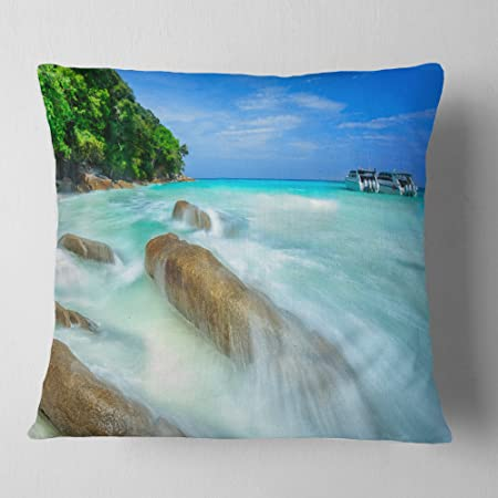 Amazon Com Designart Tachai Island In Thailand Landscape Photography Throw Living Room Sofa Pillow Insert Cushion Cover Printed On Both Side 26 In X 26 In Arts Crafts Sewing