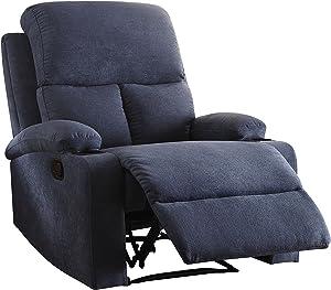ACME Furniture 59545 Rosia Recliner, One Size, Blue