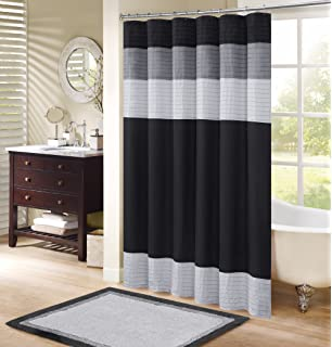 Comfort Spaces Windsor Shower Curtain Black