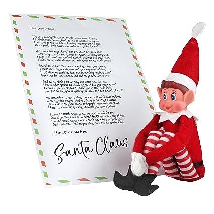 ebuygb Elfos sentado en estantes elfo con personalizado ...