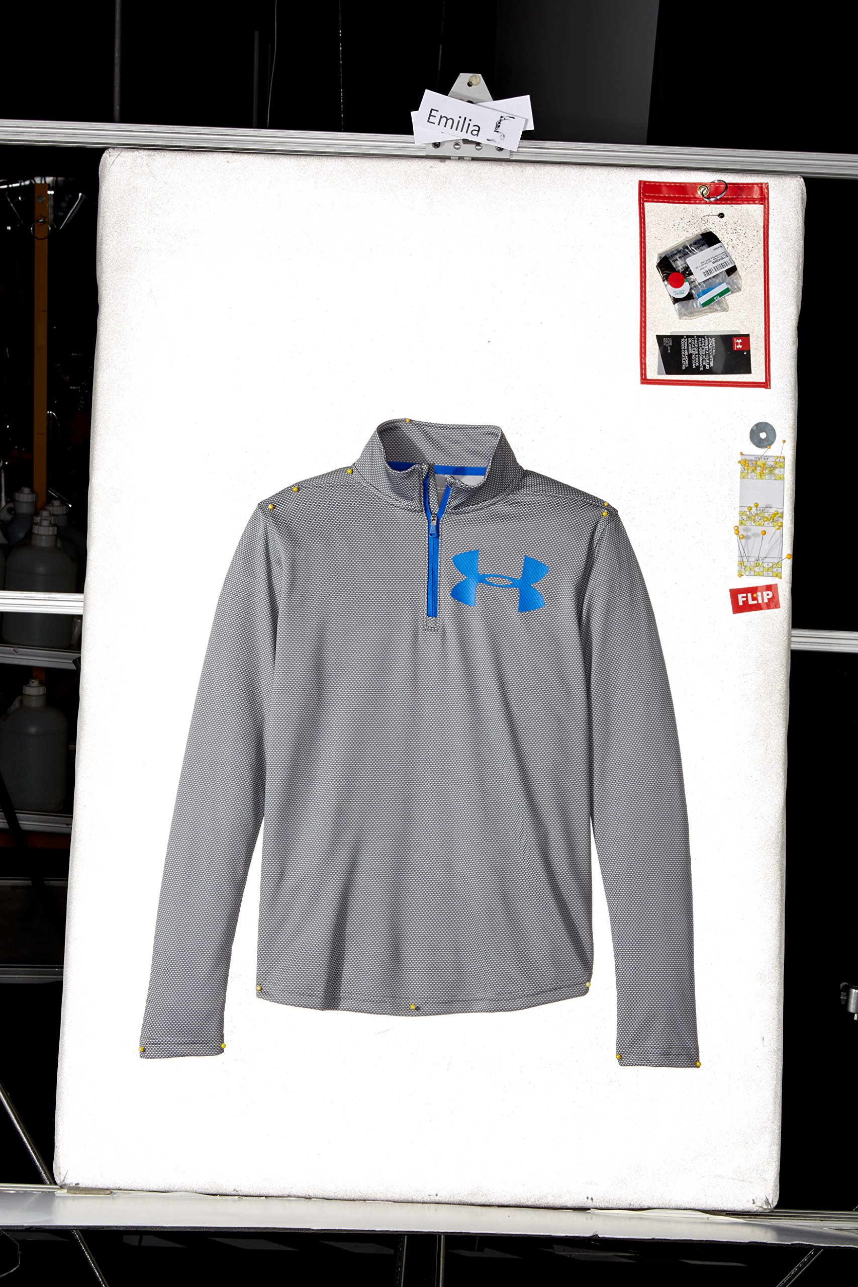 Under Armour Boys' Tech Textured ¼ Zip,Graphite /Ultra Blue, Youth X-Small by Under Armour