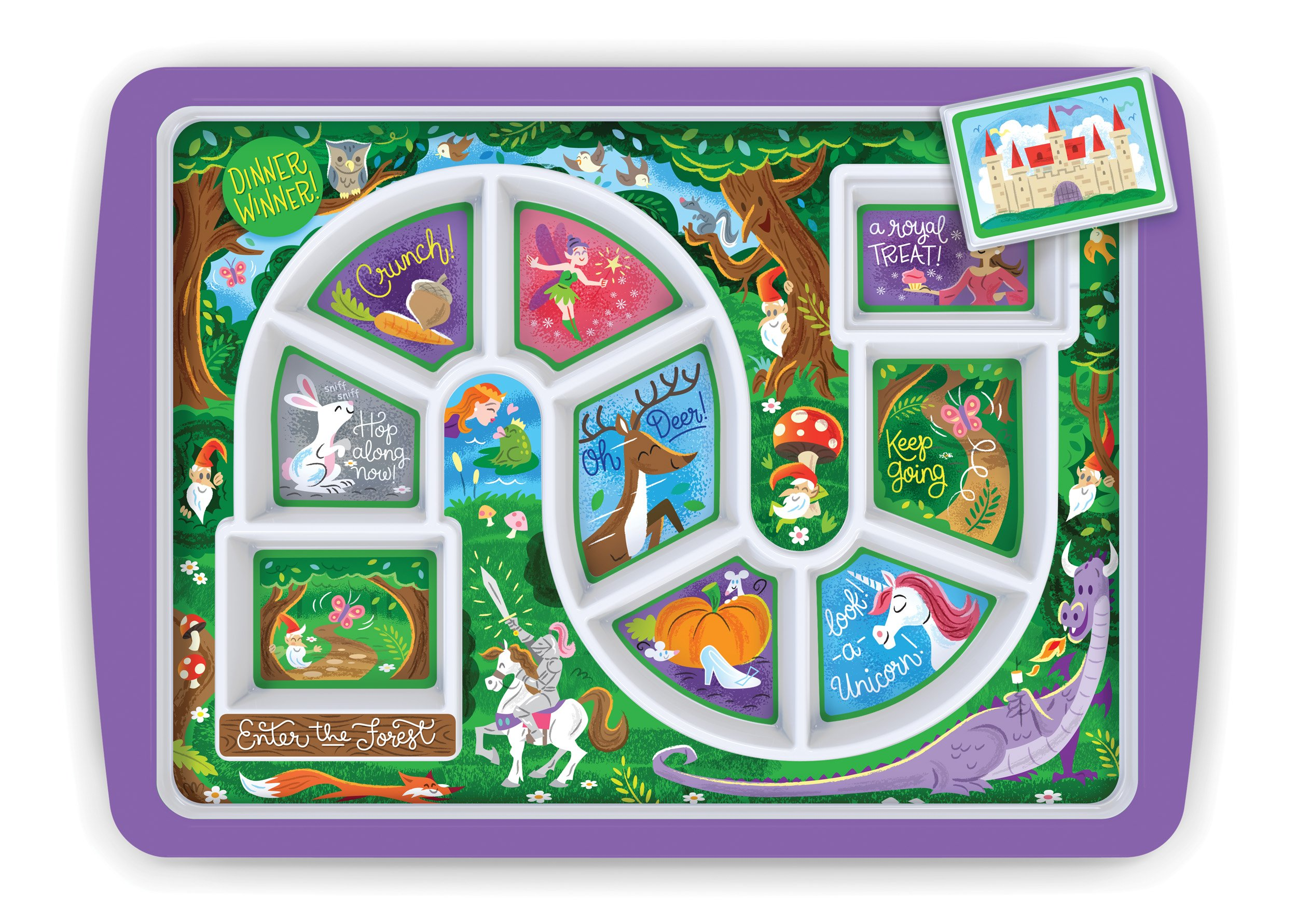 Fred DINNER WINNER Kids' Dinner Tray, Enchanted Forest by Fred & Friends (Image #1)