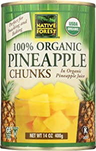 Native Forest Pineapple Chunks, Organic, 14 Oz