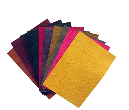 Fun + Learn Handmade Crushed Colored Sheets A4 Size Thick Mixed ...