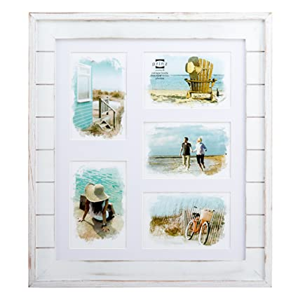 Amazon.com - Prinz 5 Opening Seaside Wood Plank Collage Frame, 4 x 6 ...
