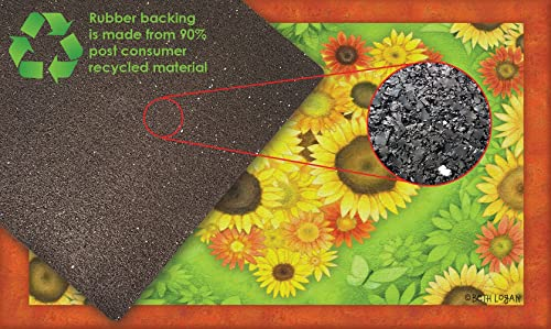 Toland Home Garden 830177 Sunflower Heart 18 x 30 Recycled Mat, USA Produced