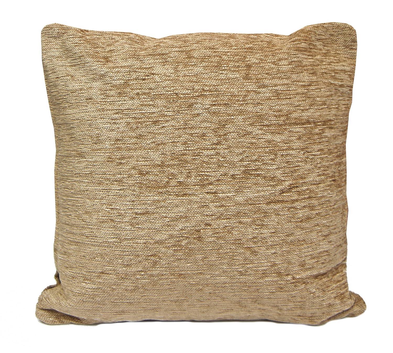 Just Contempo Chenille Square Cushion Cover Latte 17x17 inches