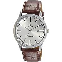 Titan Analog Silver Dial Men's Watch-NK1584SL03