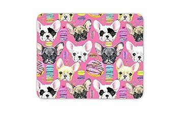 Dog Dogs Mum Kids Gift Computer #8649 Cute French Bulldog Puppy Mouse Mat Pad