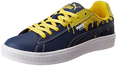 puma basket city dp sneakers (blue yellow)
