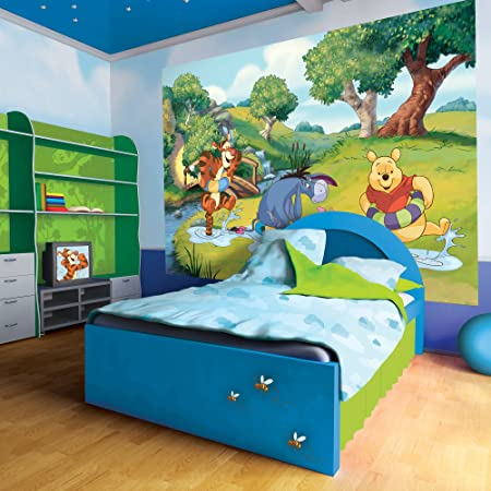 Winnie the Pooh Wall Mural Amazoncouk Kitchen Home