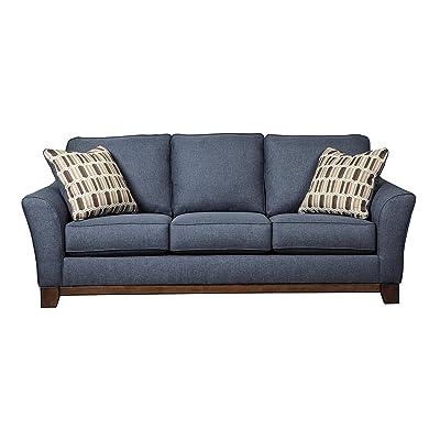 Benchcraft - Janley Contemporary Upholstered Sofa - Denim