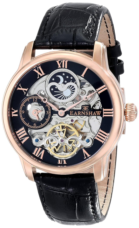 Earnshaw Herren ES-8006-07 Longitude Analog Display Automatic Self Wind Black Armbanduhr