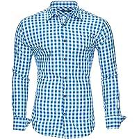 Kayhan Camisas Hombres Camisa Hombre Manga Larga Ropa Camisas de Vestir Slim fácil de Hierro Fit S M L XL XXL-6X…