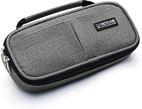 iDream365 Upgraded Hard Pencil Case Box for Boys Girls Audlts,Durable Pen Carrying Case with Zipper-Black