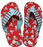 Hatley Boys' Lbh Kids Flip Flops-Skulls Beach and Pool Shoes