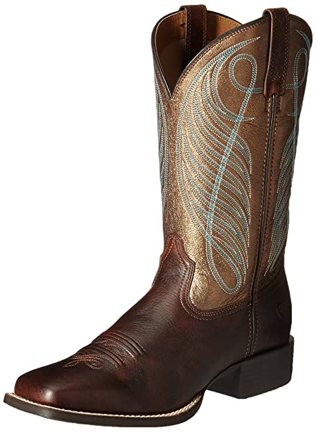 4c353a9345f ARIAT Women's Round Up Wide Square Toe Western Boot