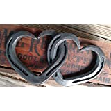 Intertwined Horseshoe Hearts - hanging wall or decor - Medium size 2 & 2 shoes
