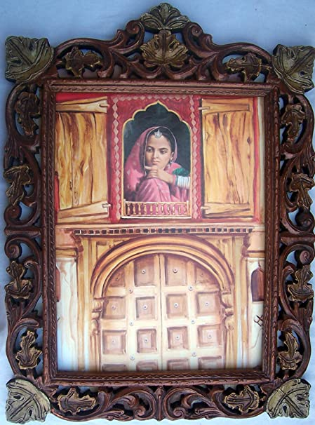 Amazon Com A Lady Looking Out Side From Palace Window Wood Craft
