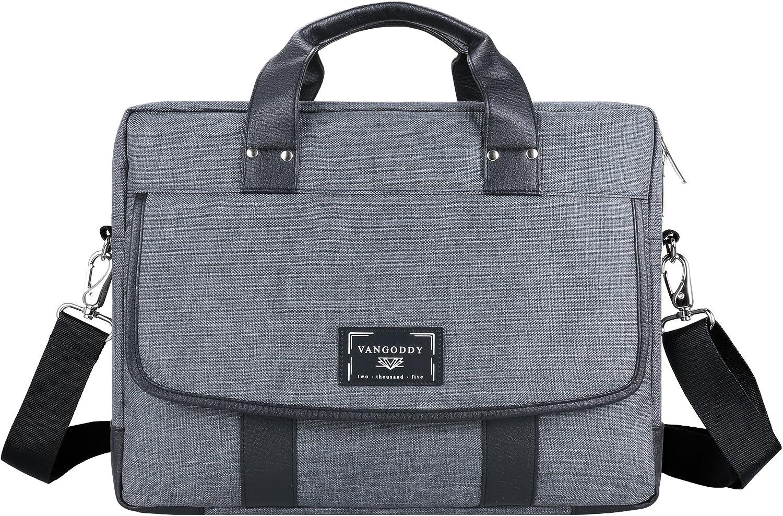 Chrono Series Grey Messenger Tote Bag Shulder Messenger Briefcase for 17.3 Tablet Laptop Notebook Chromebook MacBook Ultrabook