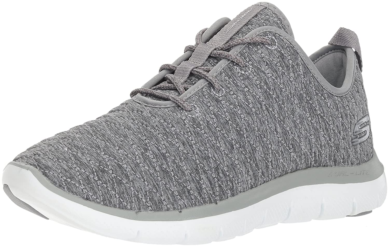 Skechers Women's Flex Appeal 2.0 First Impression Sneaker B01N4QDD0F 11 B(M) US|Grey