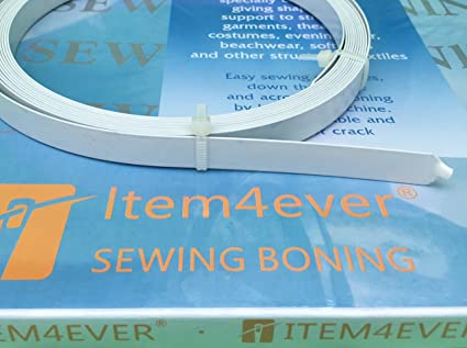 0bbf2480a9 Image Unavailable. Image not available for. Color  5.5 Yards of White  Spring Steel Boning ...