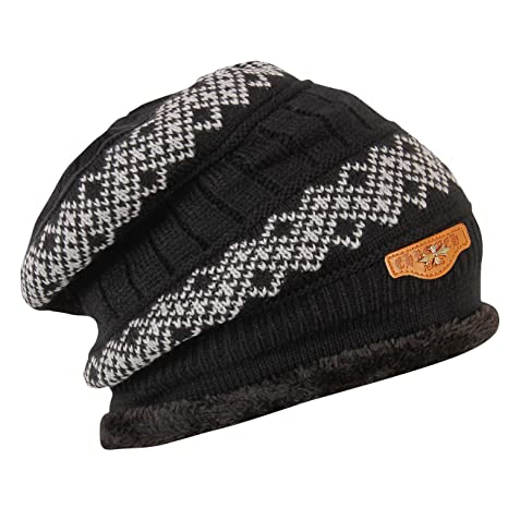 e21a576aed6d2 FabSeasons Woolen Winter Beanie Cap with Faux Fur Lining on The Inside   Amazon.in  Sports