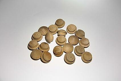 Pack de 20 tapones de madera Haya (Ø 20/25 mm con mecha)