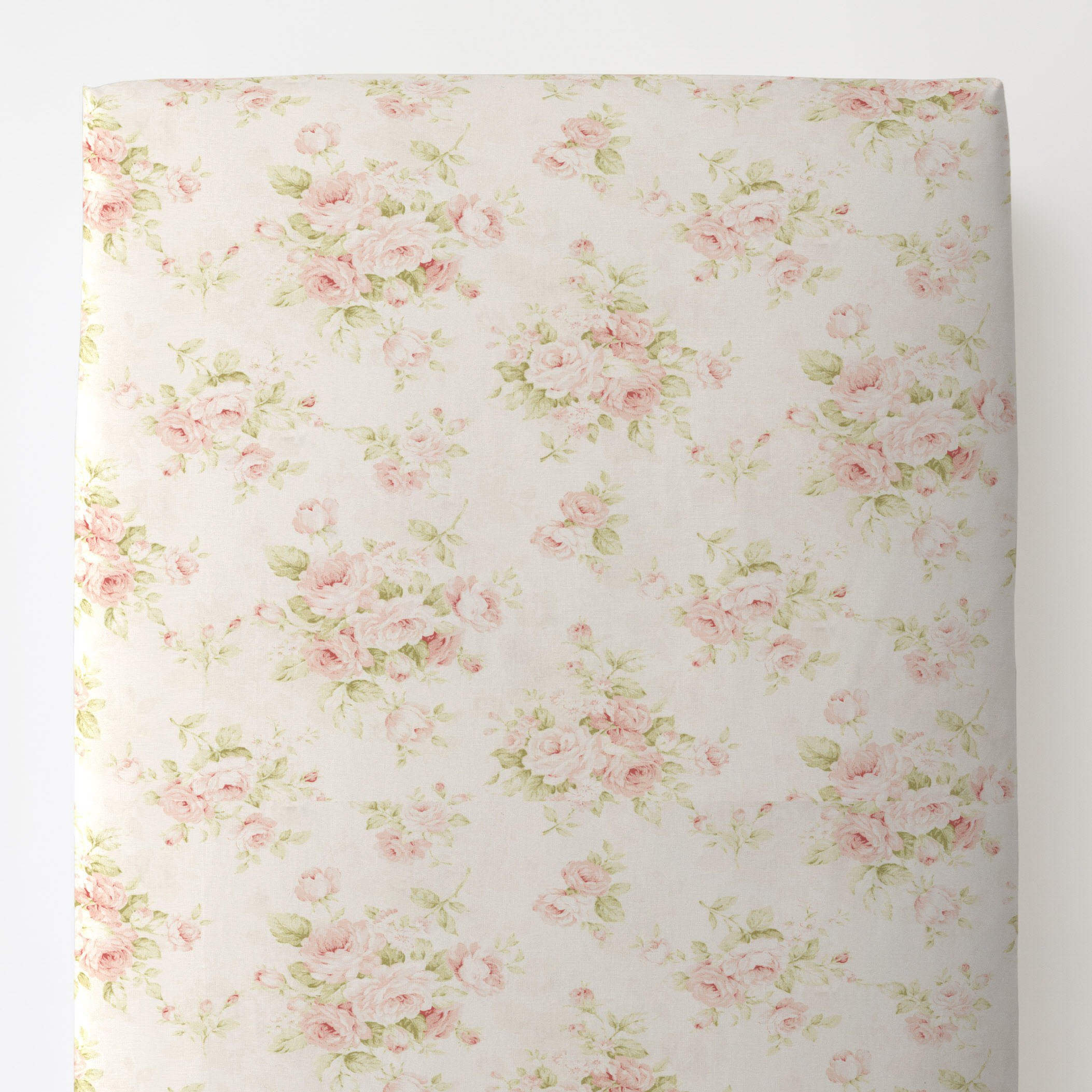 Carousel Designs Pink Floral Toddler Bed Sheet Fitted