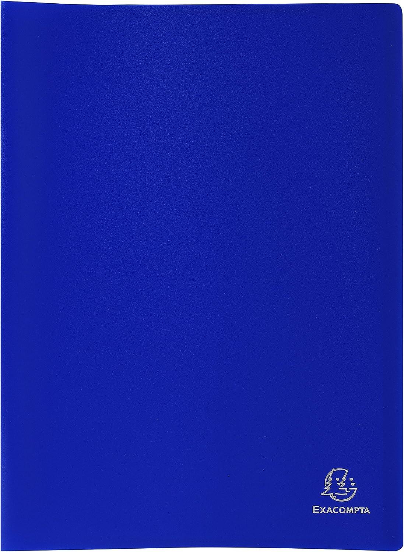 Couleur de couverture  Orange Exacompta 88424E Porte vues Opak en polypropylene mat et opaque avec pochettes int/érieures lisse haute transparence 40 pochettes et 80 vues Format A4