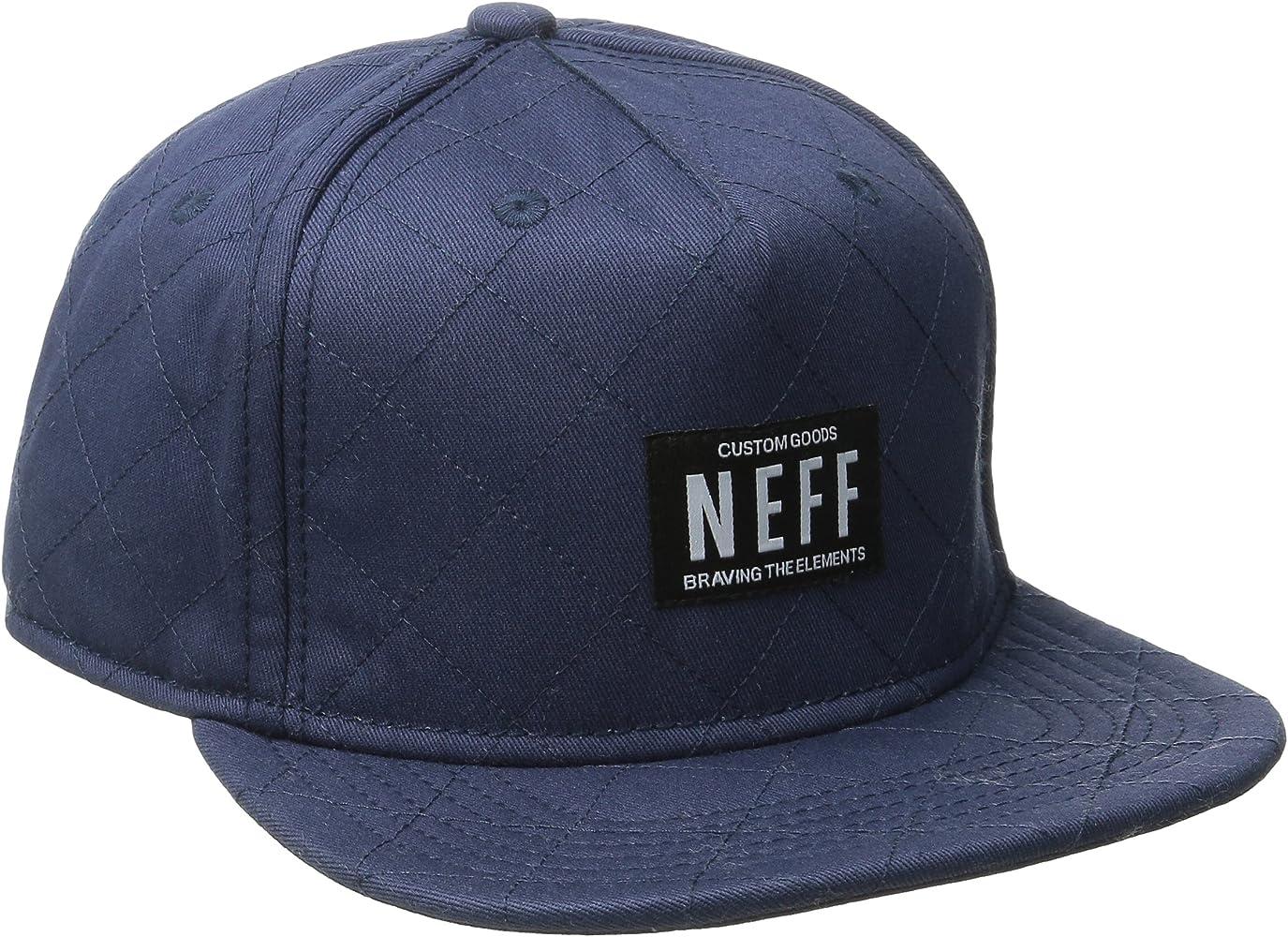 Neff Hombre Quilted Snapback Cap Flat Brim Cap Gorra Tapa – Azul ...