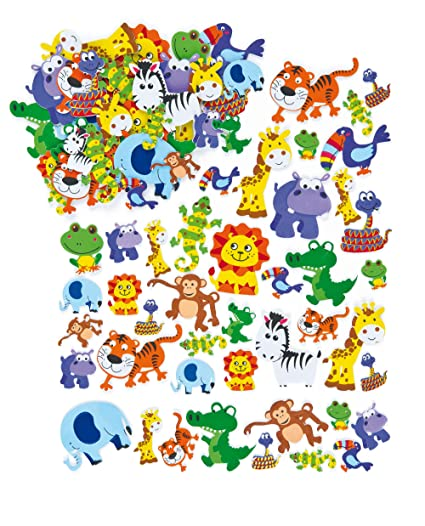 FUN STICKERS-ANIMALS EMBELLISHMENT STICKERS FOR CARDS AND CRAFTS Scrapbooking Stickers Scrapbooking Embellishments
