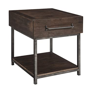 Ashley Furniture Signature Design - Starmore Rectangular End Table - Rustic Contemporary Side Table - Brown