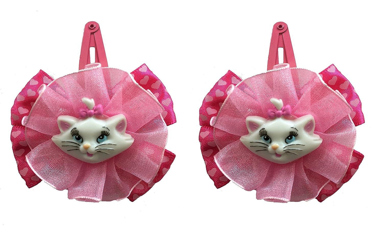 Marie Cat 2 barrettes pinces à cheveux idée cadeau pour une fille fan Disney Les Aristochats DFM SWKMC