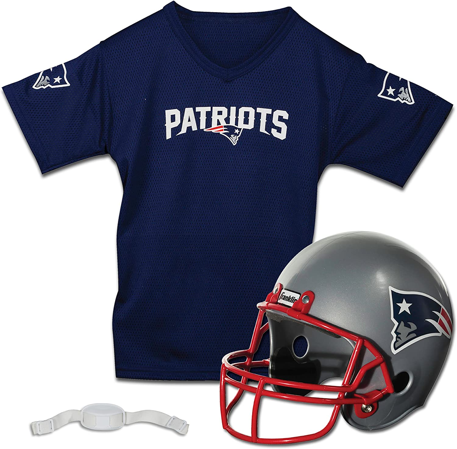 Franklin Sports NFL Kids Football Helmet and Jersey Set - NFL Youth Football Uniform Costume - Helmet, Jersey, Chinstrap - Youth M