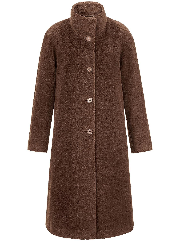 PETER HAHN Damen Mantel mit Umlegekragen, braun, Damen