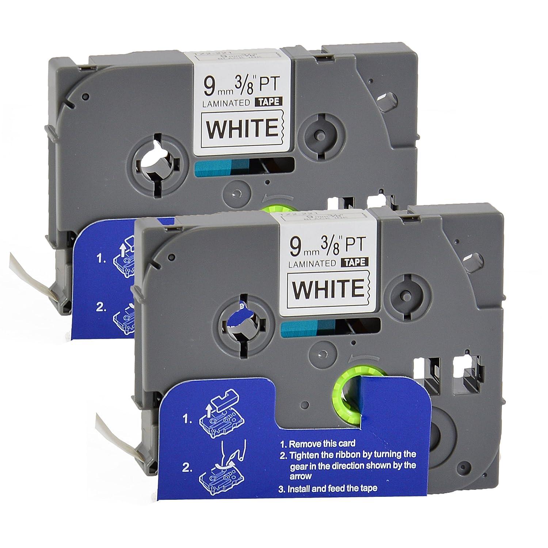 Bubprint nastro a cassetta compatibile per TZe221 TZe-221 e per P-Touch 1000 1010 D200 D210 D400 E100 GL200 H75 H100 H101GB H105 H110 PTP900W PT-P900