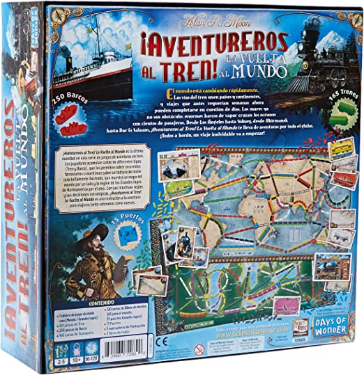 Days of Wonder-¡ Aventureros Al Tren-La Vuelta Al Mundo-Español, color (EDGE DW720826) , color/modelo surtido: Amazon.es: Juguetes y juegos