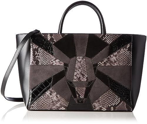 57b20d2eb150 Class Roberto Cavalli Black Panthera Prestige 003 Handbag: Amazon.ca: Shoes  & Handbags