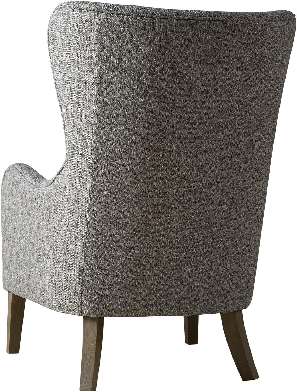 Madison Park Faux Linen Wingback Chair