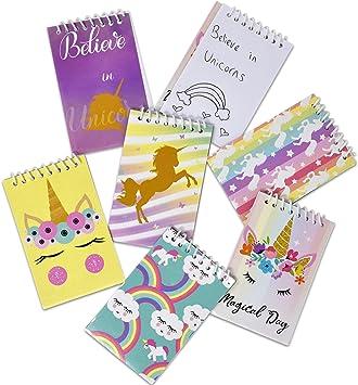 Amazon.com: 48 mini bloc de notas de unicornio para fiestas ...