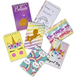 48 Mini Unicorn Notepad for Unicorn Party Favors Bulk for Girls Kids Toddlers Birthday Favor Spiral Notepads Notebooks