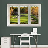 "Fathead Wall Decal, ""Fall Golf Scenic Window"""