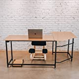 Sleekform L-Shaped Corner Office Desk | Gaming Table or Home Workstation | Modern Furniture for Studying, Writing, and Working at Home, Office or Studio | Laptop Desk