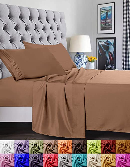Juego de sábanas de 4 piezas Elegant Comfort, 1500 hilos, suave ...
