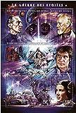 Star Wars sellos - Star Wars - 9 sellos. Menta y sheetlet sello sin montar