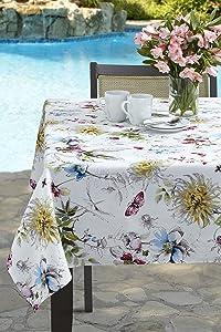 Benson Mills Blooming Floral Indoor/Outdoor Spillproof Tablecloth (52