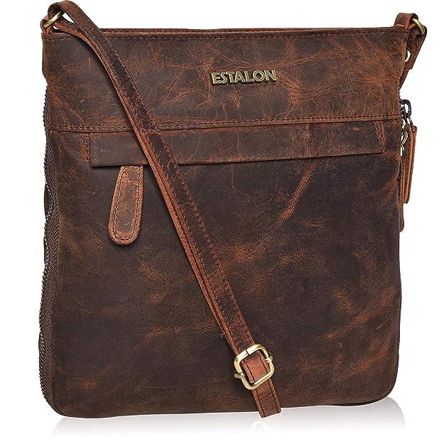 Leather Crossbody Purse For Women  Crossover Cross Body Bag Over The Premium Shoulder Luxury Crossbody by Estalon