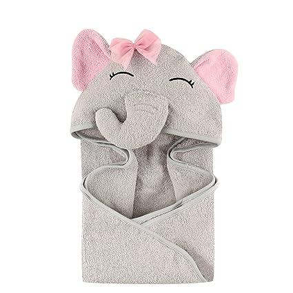 Hudson Baby Toalla con Capucha Pretty Elephant Unitalla